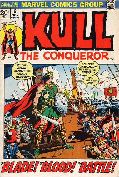 Kull the Conqueror (1971) 5-A by Marvel