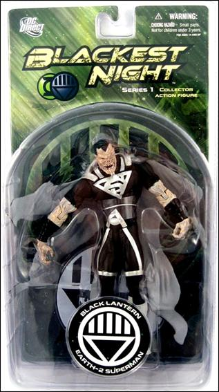 Blackest Night (Series 1) Black Lantern Earth-2 Superman by DC Direct