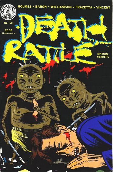 Death Rattle (1985) 10-A by Kitchen Sink