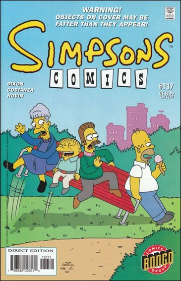 Simpsons Comics 137-A by Bongo
