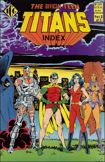Official Teen Titans Index 3-A by ICG