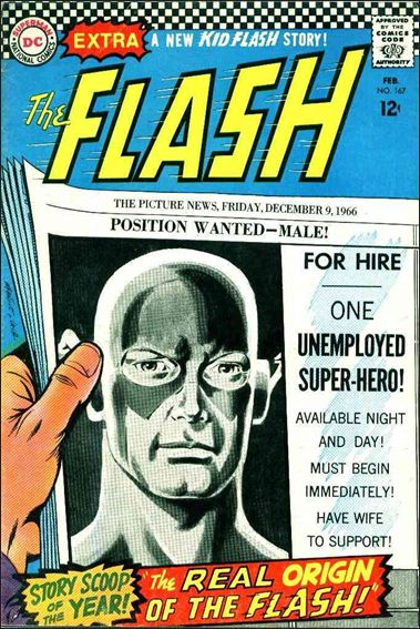 Flash (1959) 167-A by DC