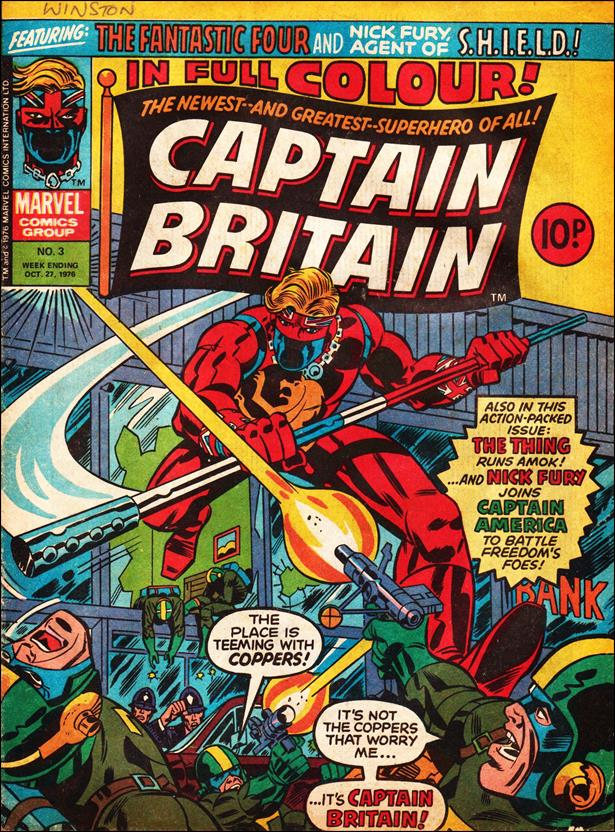 Captain Britain (UK) (1976) 3-A by Marvel UK