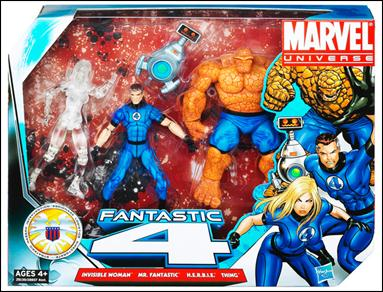 Marvel Universe (3-Packs) Fantastic Four 3-Pack w/H.E.R.B.I.E. (Clear I.W.) by Hasbro