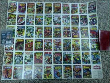Marvel Super Heroes First Issue Covers (Uncut Sheet) 1-A by Fantasy Trade Card Company