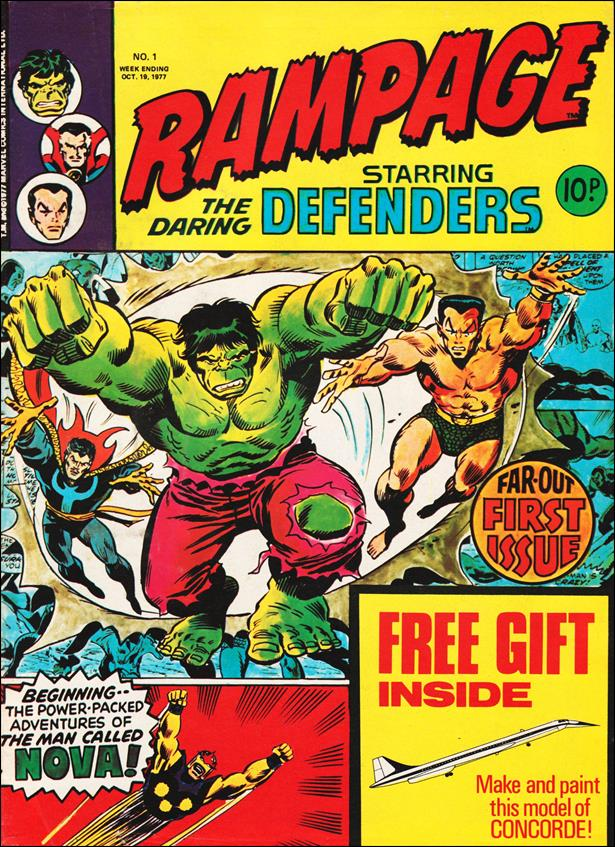 Rampage Weekly (UK) 1-A by Marvel UK