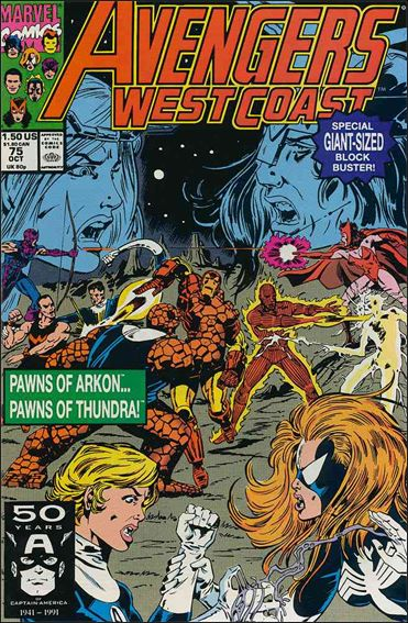 Avengers West Coast 75-A by Marvel