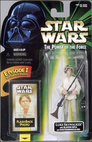"Star Wars: The Power of the Force 2 3 3/4"" Basic Action Figures Luke Skywalker w/ Flashback Card"