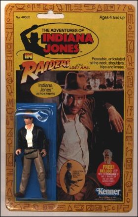 Adventures of Indiana Jones Indiana Jones (4-back/Belloq Mail-Away Offer) by Kenner