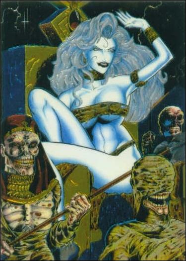 Lady Death All Chromium (Base Set) 73-A by Krome Productions