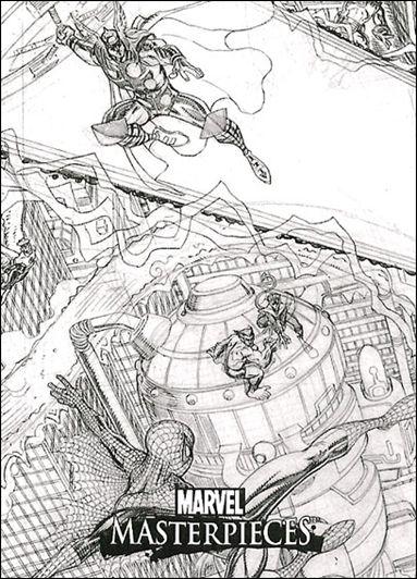 2007 Marvel Masterpieces (Adams Case Topper Splash Subset) ADAMS 1-A by Fleer