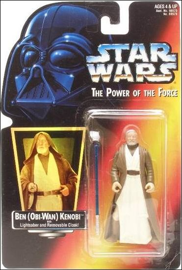 "Star Wars: The Power of the Force 2 3 3/4"" Basic Action Figures Ben (Obi-Wan) Kenobi .01 (Holofoil Sticker) by Kenner"
