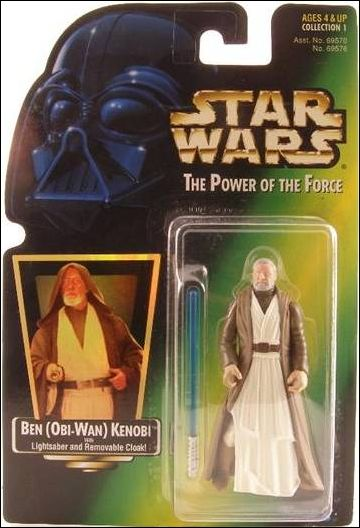 Star Wars: The Power of the Force 2 3 3/4&quot; Basic Action Figures Ben (Obi-Wan) Kenobi (Green Card w/ Holofoil) by Kenner