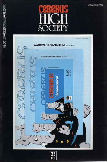 Cerebus: High Society 25-A by Aardvark-Vanaheim