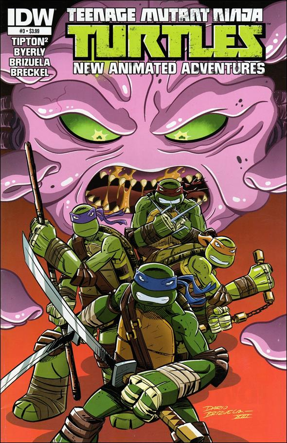 Teenage Mutant Ninja Turtles New Animated Adventures 3-A by IDW