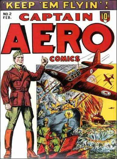 Captain Aero Comics 2-A by Continental Magazines