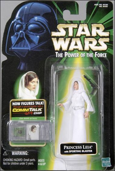 "Star Wars: The Power of the Force 2 3 3/4"" Basic Action Figures Princess Leia w/ Commtech Chip by Kenner"