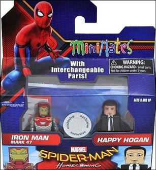 Marvel Minimates (Exclusives) Iron Man Mark 47 & Happy Hogan