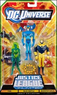 DC Universe: Justice League Unlimited - Fan Collection (3-Packs) Fire / Blue Beetle / Booster Gold by Mattel