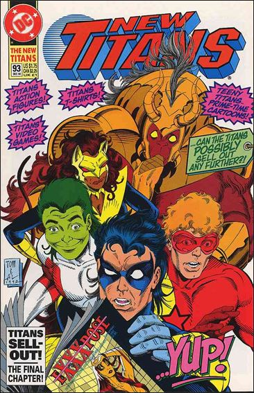 New Titans 93-A by DC