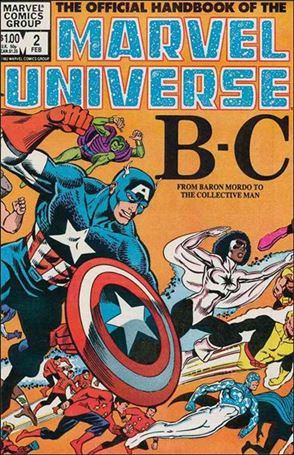 Official Handbook of the Marvel Universe (1983) 2-A