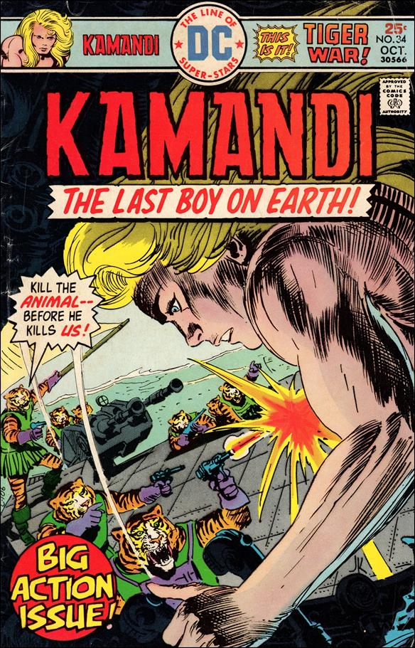 Kamandi, the Last Boy on Earth 34-A by DC