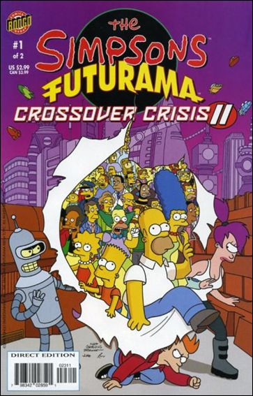 Simpsons Futurama Crossover Crisis II 1-A by Bongo