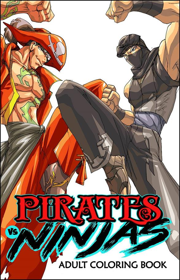 Pirates vs Ninjas Coloring Book nn-A by Antarctic Press