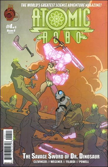 Atomic Robo and the Savage Sword of Dr. Dinosaur 4-A by Red 5 Comics