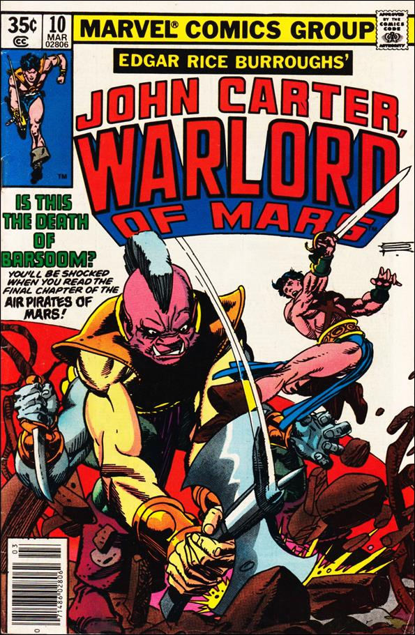 John Carter, Warlord of Mars 10-A by Marvel