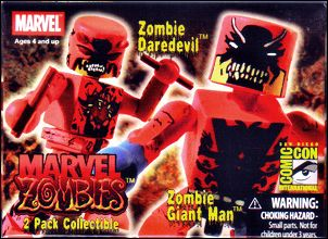 Marvel Minimates (Exclusives) Zombie Giant-Man/Zombie Daredevil (2007 SDCC Excl) by Diamond Select