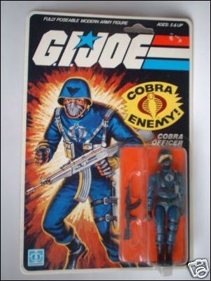 "G.I. Joe: A Real American Hero 3 3/4"" Basic Action Figures Cobra Officer (The Enemy) by Hasbro"