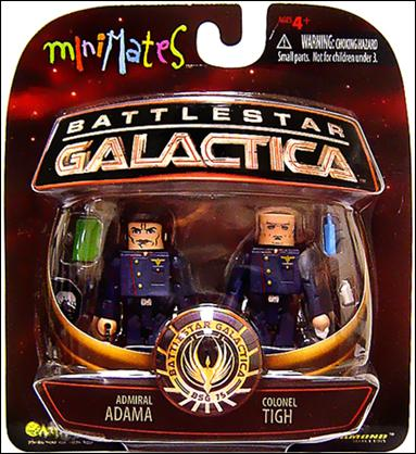 Battlestar Galactica Minimates Admiral Adama and Colonel Tigh by Diamond Select