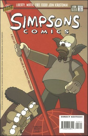 Simpsons Comics 28-A by Bongo