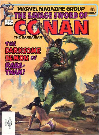 Savage Sword of Conan (1974) 84-A by Marvel
