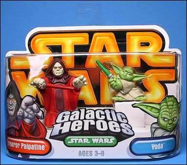 Star Wars: Galactic Heroes Emperor Palpatine and Yoda by Hasbro. Item Bio