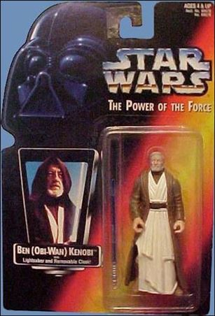 "Star Wars: The Power of the Force 2 3 3/4"" Basic Action Figures Ben (Obi-Wan) Kenobi .00 (Short Saber/Long Tray)"