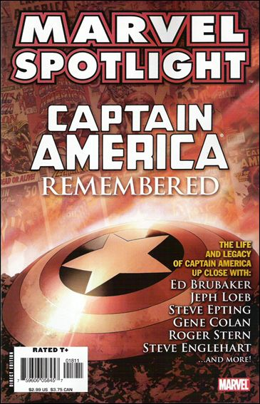 Marvel Spotlight: Captain America Remembered nn-A by Marvel