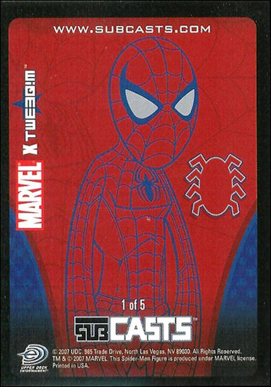 2007 Marvel Masterpieces (Subcasts Gamepiece Subset) 1-A by Upper Deck