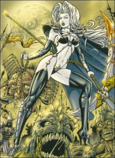 Lady Death and the Women of Chaos!: Love Bites (Base Set) 3-A by Comic Images