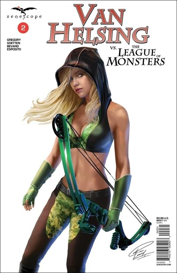 Van Helsing vs. the League of Monsters 2-C by Zenescope Entertainment