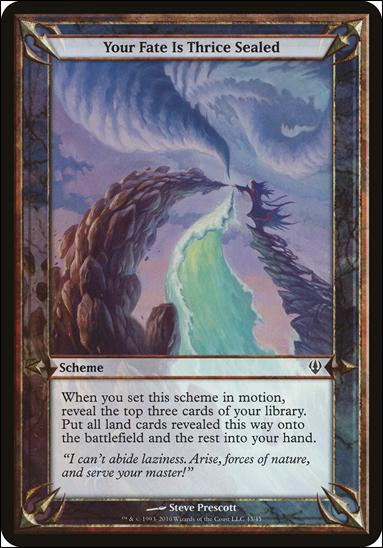 Magic the Gathering: Archenemy (Scheme Subset)43-A by Wizards of the Coast