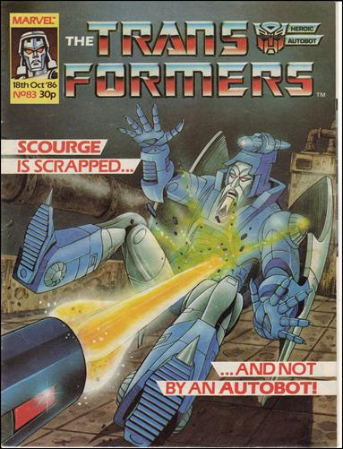 Transformers (UK) 83-A by Marvel UK