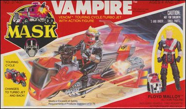 M.A.S.K.  (Vehicle and Figure Sets) Vampire (w/ Floyd Malloy)   by Kenner