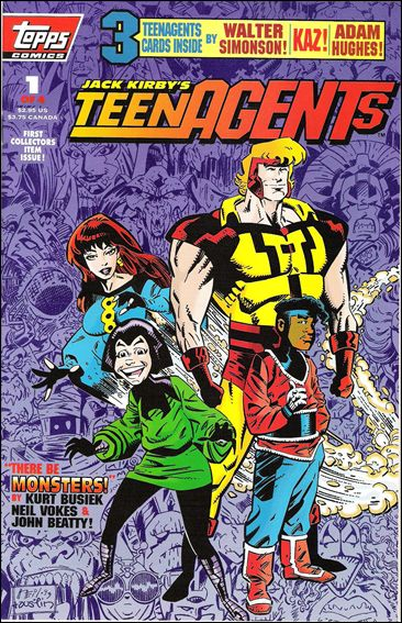 Jack Kirby's Teenagents 1-A by Topps