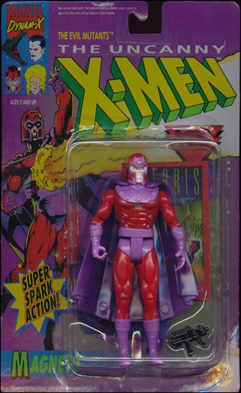 "X-Men 5"" Action Figures Magneto (Super Spark Action); Solid Gloves by Toy Biz"