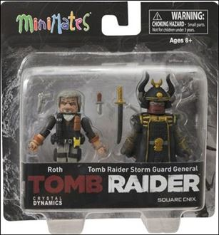 Tomb Raider Minimates Roth and Storm Guard General
