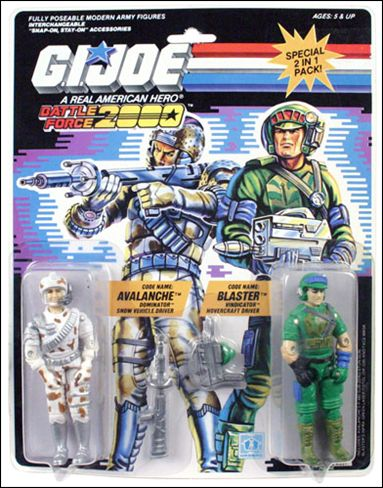 G.I. Joe: A Real American Hero (Battle Force 2000) 2-Packs Avalanche and Blaster  by Hasbro