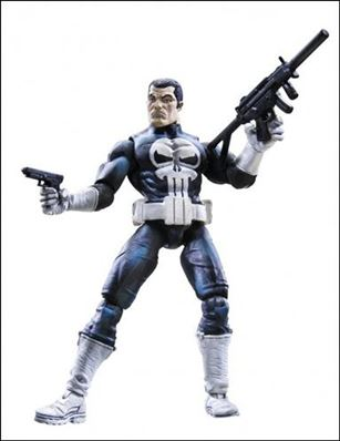 Marvel Universe (Series 1) Punisher (White Gloves) - Loose