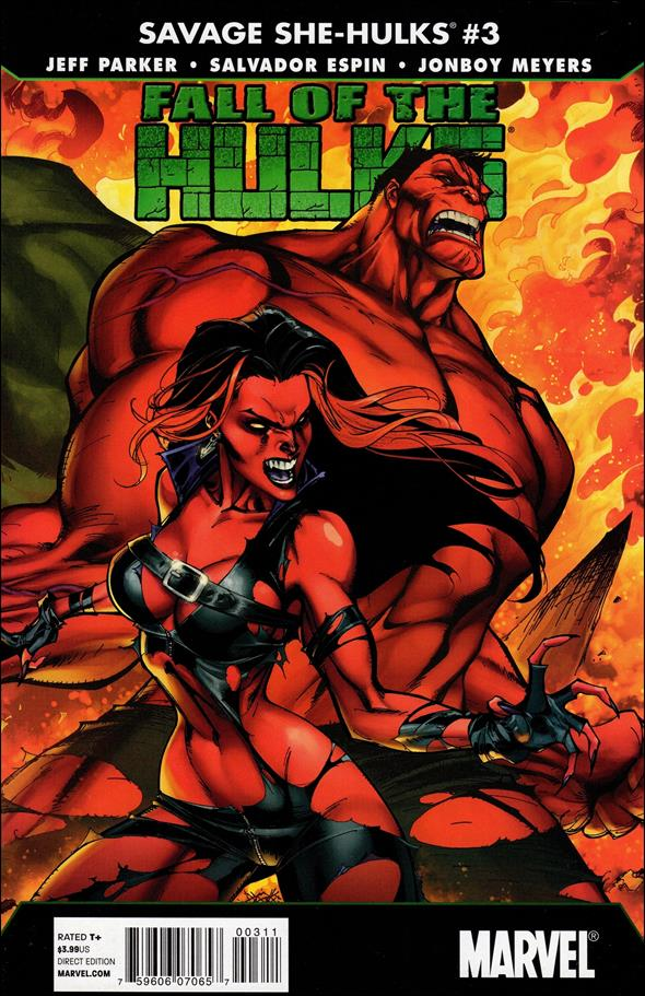 Fall of the Hulks: The Savage She-Hulks 3-A by Marvel
